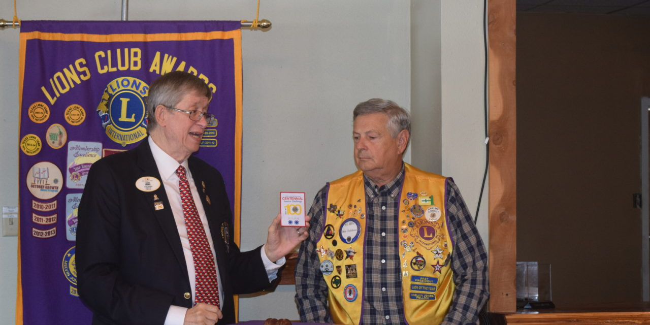 District Governor Pays Visit to Grapeland Noon Lions