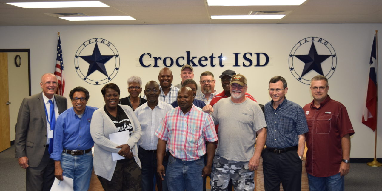 Crockett ISD Recognizes Maintenance Department