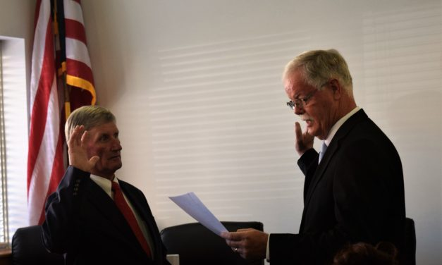 Lovell Sworn in as County Judge
