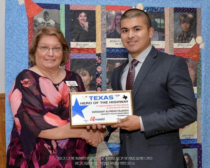 MADD Presents Award to CPD Sgt. Alfredo Fajardo