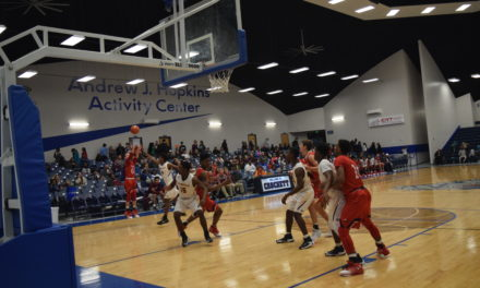 Eagles Fly Past Mustangs, 58-51