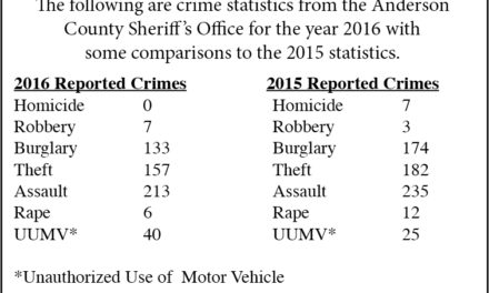 ACSO reports almost 30 percent in clearing burglaries in 2016