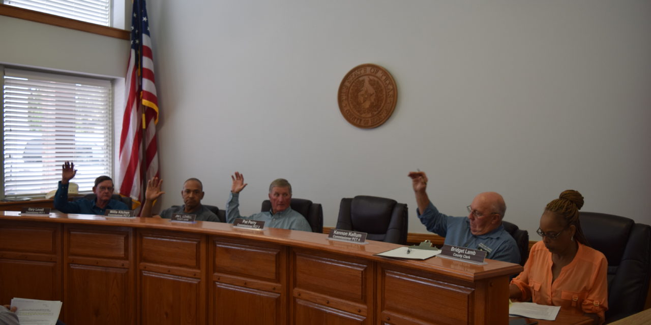 Commissioners Court Approves Bid Acceptance for Roadwork on CR 2210