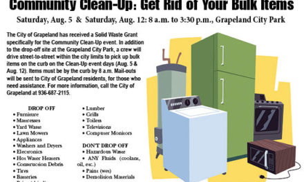 Get Rid of Your Bulk Items: Community Clean-Up Event set in Grapeland