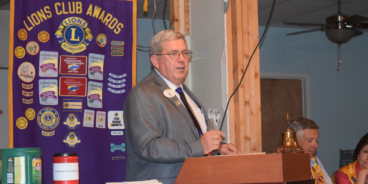 Grapeland Lions Host District Governor
