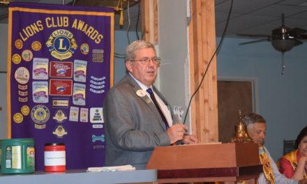 Grapeland Lions Host District Governor