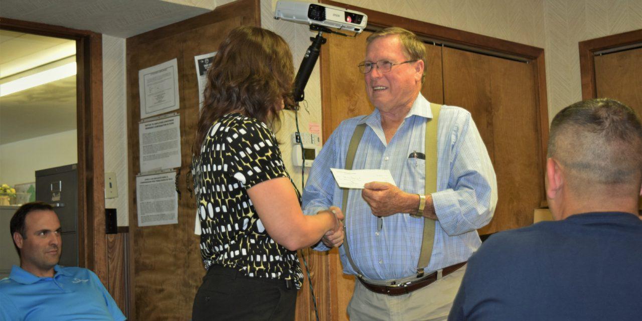 City of Grapeland Receives $1,000 Park Donation