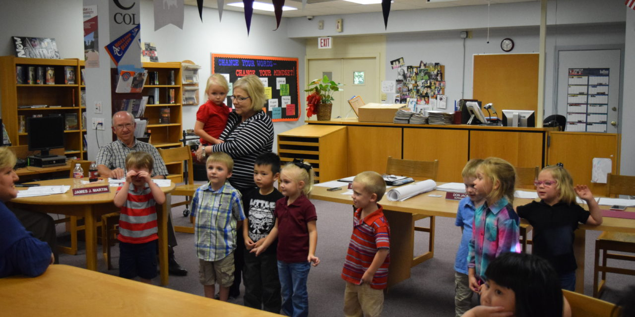 Pre-K Students Recognized by GISD Board