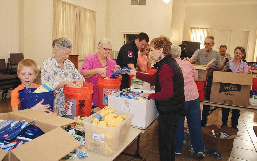 Bucket Brigade: Crockett UMC Provides Flood Buckets for Harvey Survivors