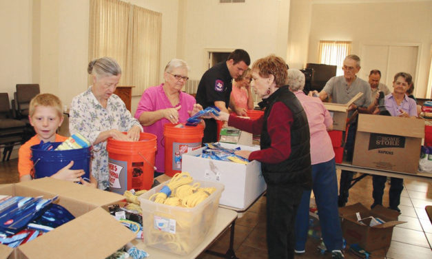 Bucket Brigade: Crockett UMC Provides Flood Buckets for Harvey Survivors
