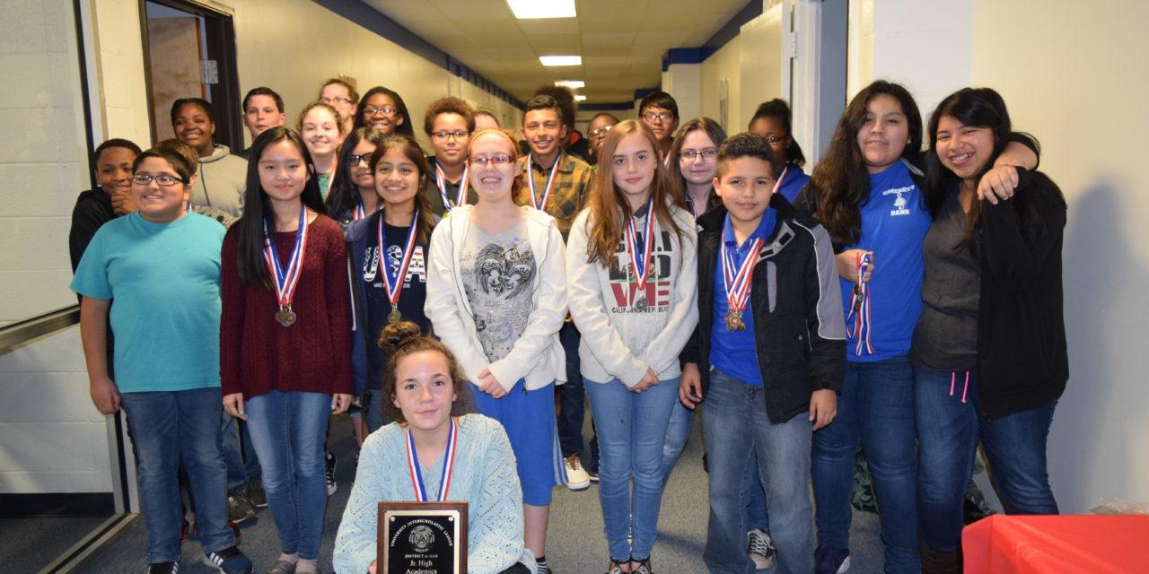 Crockett ISD Recognizes Championship Jr. High UIL Team