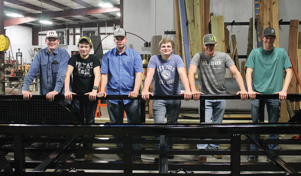 Grapeland Ag Students Finish First Gooseneck Trailer