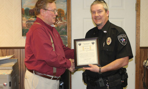 Grapeland Officers Receive Promotions