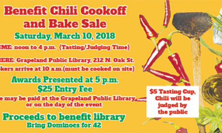 Grapeland Public Library to Host Chili Cook-off, Bake Sale