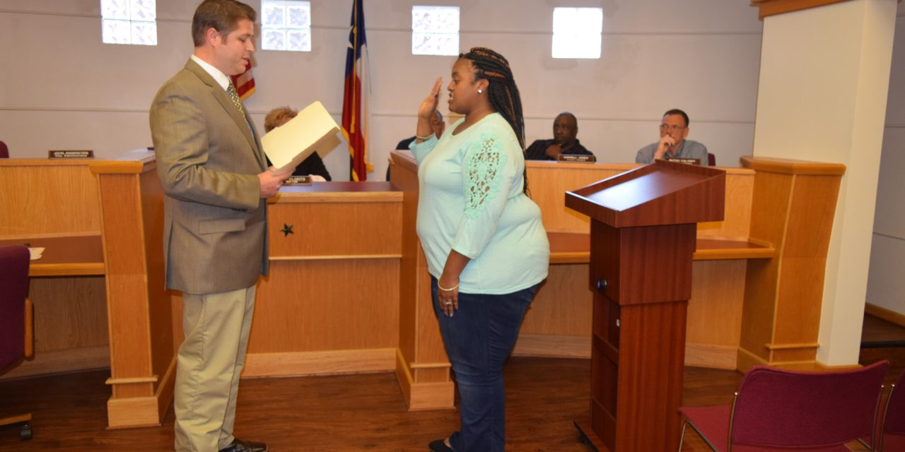 Beasley Sworn-in to Crockett City Council