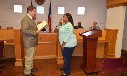 Beasley Sworn-in to Crockett City Council
