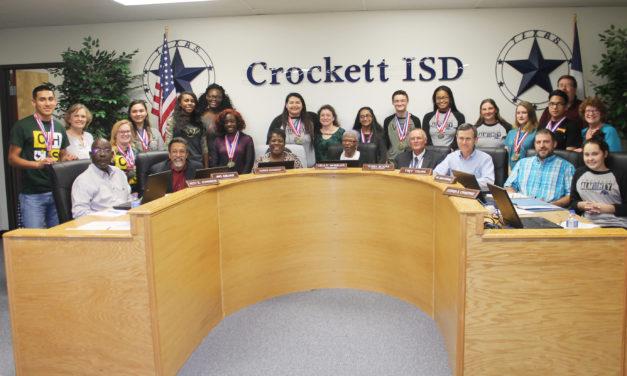 Crockett ISD Recognizes Academic UIL Participants