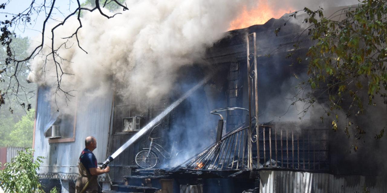 Fire Destroys Grapeland Residence