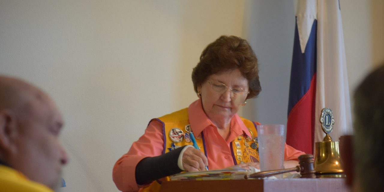 Martha Childress Takes over as Lions Club President