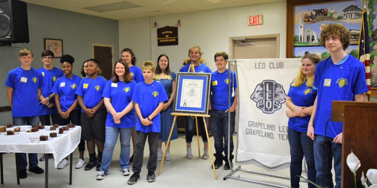 Grapeland Leo Club Holds Charter Celebration Luncheon