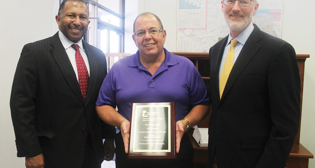Johnson Honored by Texas Medical Association