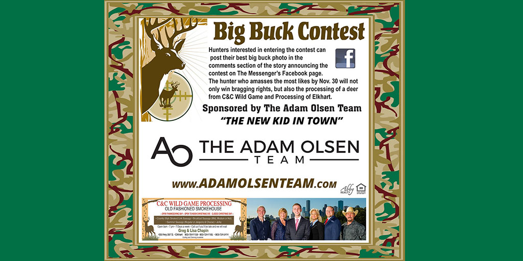 Messenger Holding Big Buck Contest