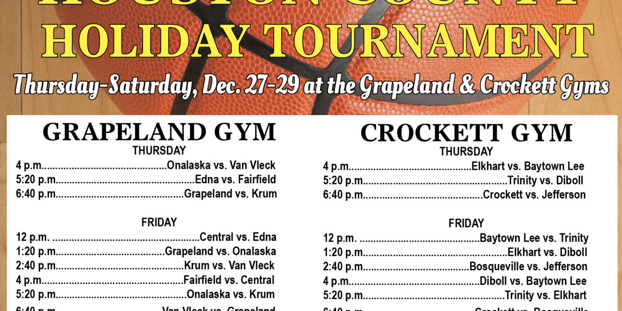Houston County Holiday Tournament Dec. 27-29